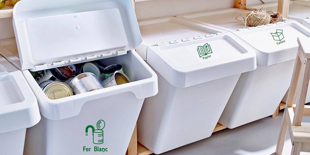 Logo pour bac de recyclage